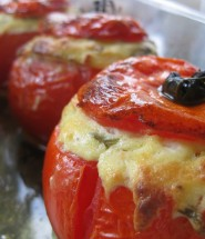 Mozzarella Roasted Tomatoes - Gluten Free Recipe